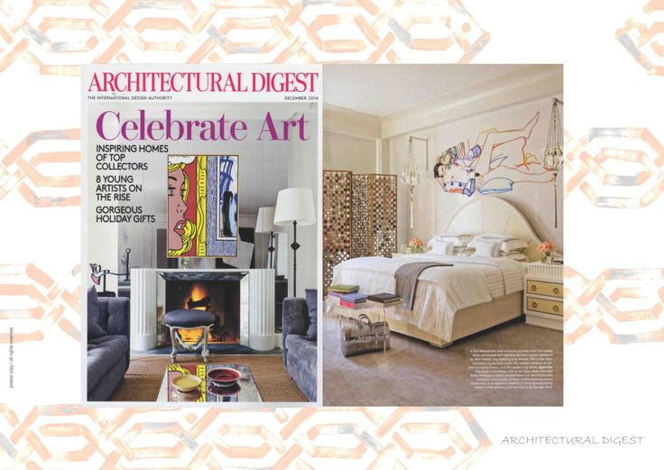 Architectural Digest - December 2014     #AD #Magazine #Collection #Interior #Design #Architecture #Bed #Pillows #Linens #Home #Decor #Luxury