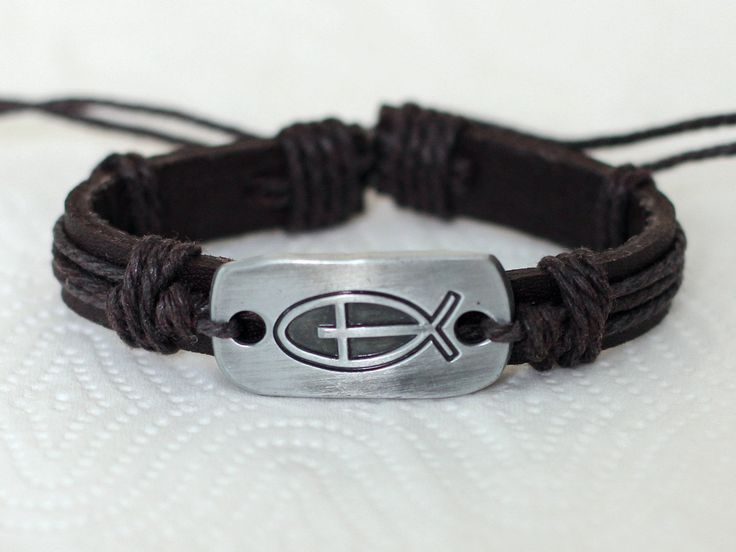192 Men Bracelet Women Leather Fish Cross Religion Fashion