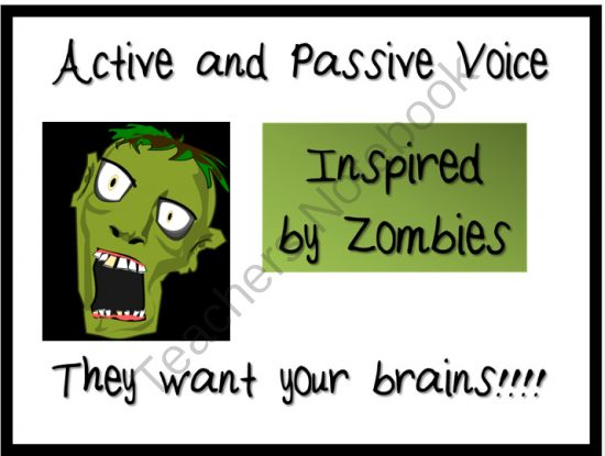 Worksheets 1000 Active Passive Sentences 1000 images about slo activepassive voice on pinterest the active and passive with zombies powerpoint from masteringmiddleschool teachersnotebook com 9
