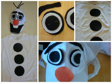 How to Make an Olaf the Snowman Halloween Costume #olaf #frozen #halloween @frozenfans