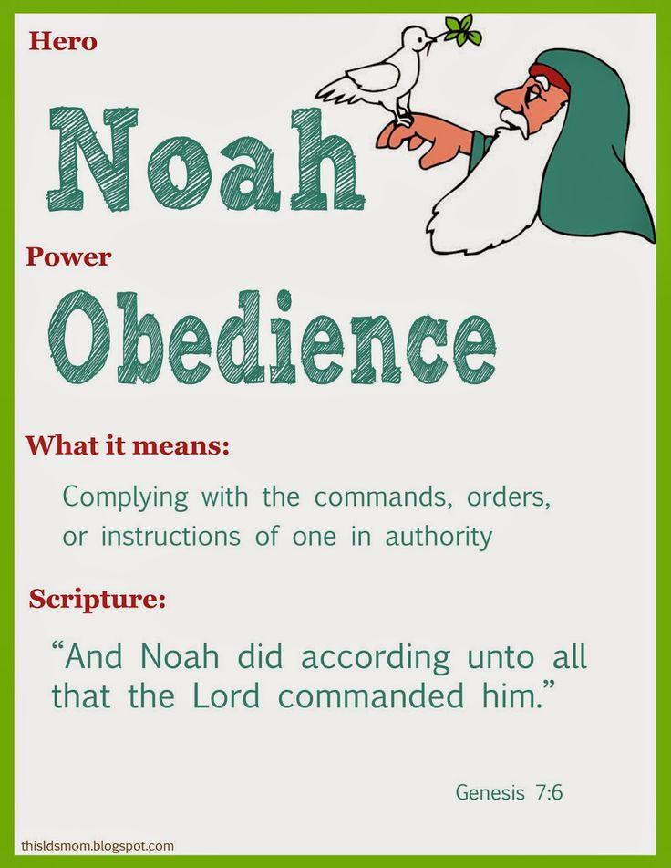 Scripture Heroes: Noah. Good FHE or Primary idea