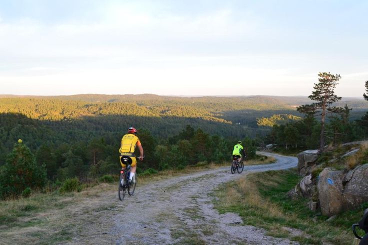 Bring your bike to Southern Norway, you will find lots of places for a trip on your bike. This is from Bertesknaben a view point in Evje, Setesdal in Southern Norway. Photo: Elisabeth Høibo©Visit Southern Norway