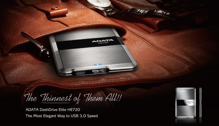 #ADATA lance le DashDrive Elite HE720, le disque-dur externe USB 3.0 le plus fin du monde ! (vidéo)