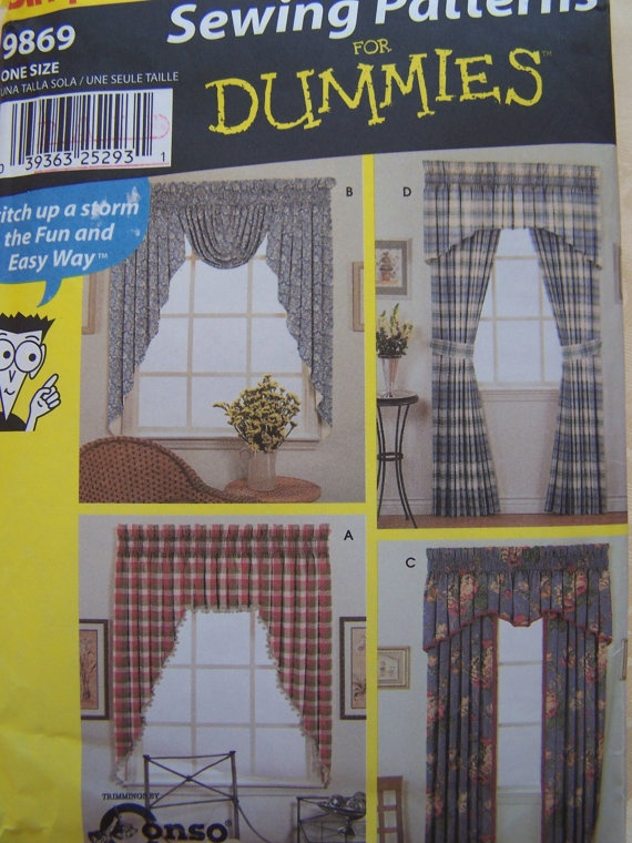 22 best images about Curtain ideas on Pinterest Sewing patterns, Curtains and Fun crafts