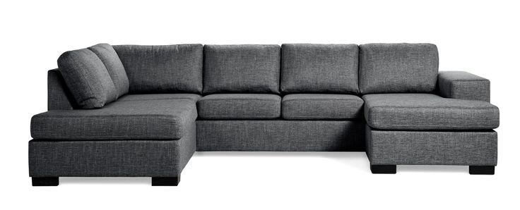 Produktbild - Nevada, 3-sits soffa, divan vänster och schäslong höger