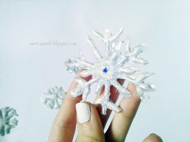 Mój własny kreatywny świat: Płatki śniegu z kleju