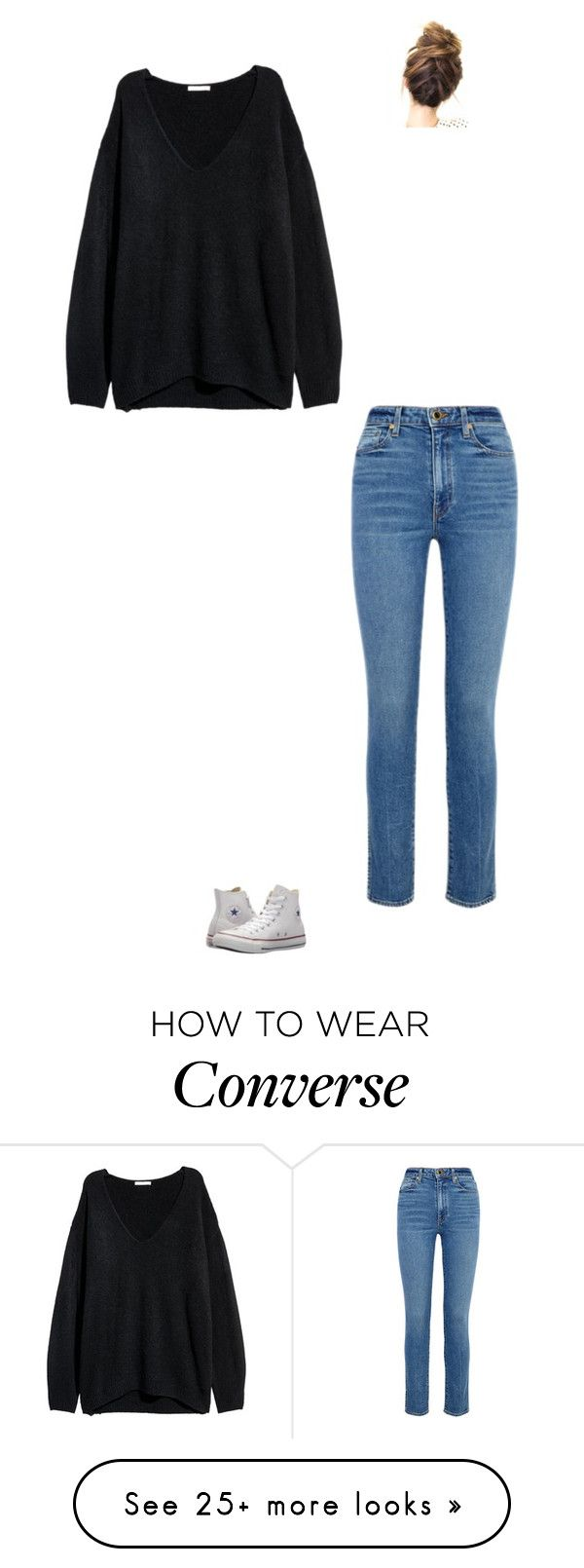 """Musashi Gets Hurt"" by maryvarleyrox on Polyvore featuring Khaite and Converse"