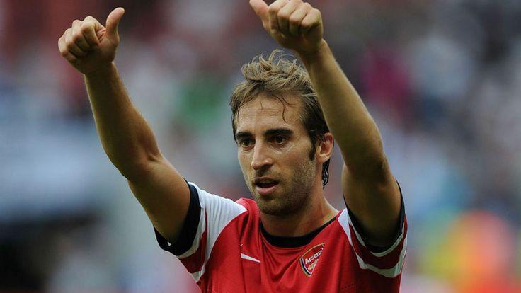 Arsenal midfielder Mathieu Flamini