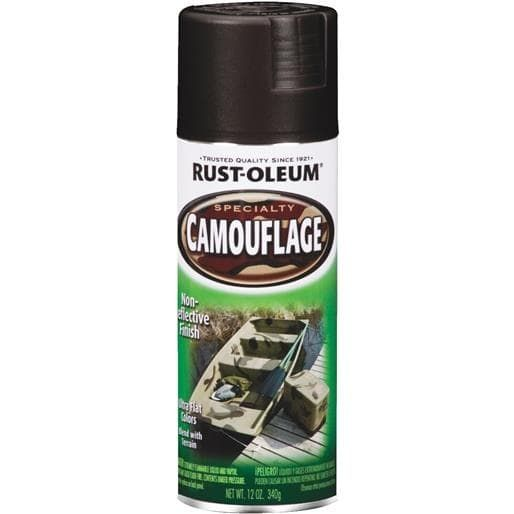 Rust-Oleum Black Camo Spray Paint 1916-830 Unit: Each