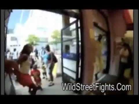 WildStreetFights - Man Taser Woman In Front Of Her Kids.