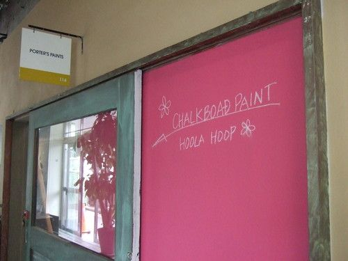 Hoola Hoop Chalkboard Paint by Porter's Paints