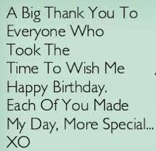 Birthday Thanks Quotes 1