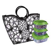 Alexandria Insulated Lunch Bag Kit - Lavendar Roses