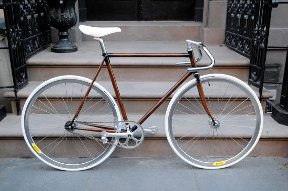 Coolest bike ever! Hand Painted Faux Woodgrain Bike Frame (seen on the etsy blog)