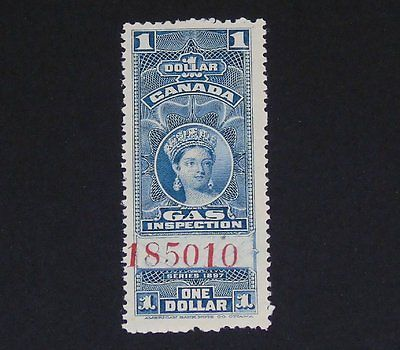 Stamp Pickers Canada BOB 1897 Victoria $1 Gas Inspection #FG22 MNH Signed
