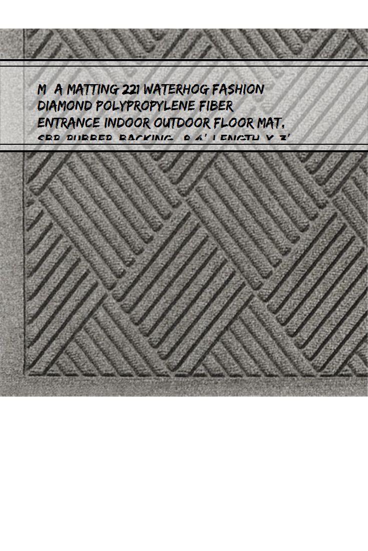WaterHog Diamond-Pattern Commercial Grade Entrance Mat Indoor//Outdoor Floor Mat 6 Length x 4 Width Navy by M+A Matting