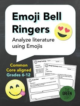 Your students love sending Emojis in their texts, so why not have them use Emojis to help them analyze the literature you're studying? These slips can be used as either bell ringers or exit slips, and ask students to sketch Emojis or Emoticons based on a variety of analysis prompts.
