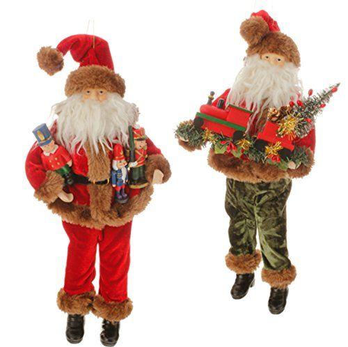 RAZ Santa Figurine Ornaments