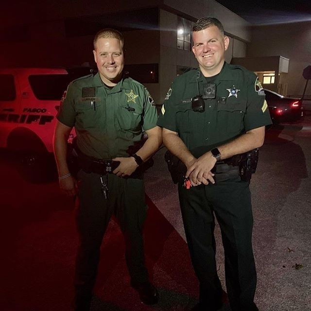 Deputy Justin Lawless and Corporal Mitch Bollenbacher