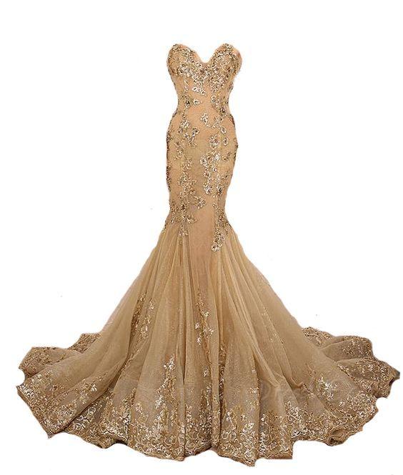 Mermaid Prom Dress ,Strapless Prom Dress