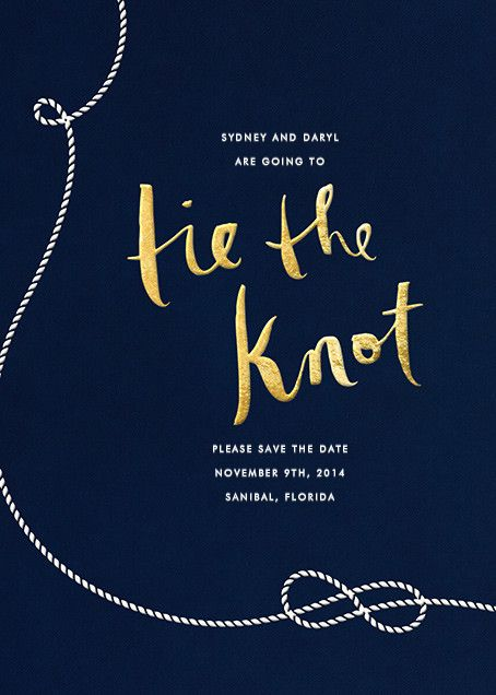 Nautical II by kate spade new york for Paperless Post. Available on paper and online. Customize your wedding save the date to match your personal style on paperlesspost.com.