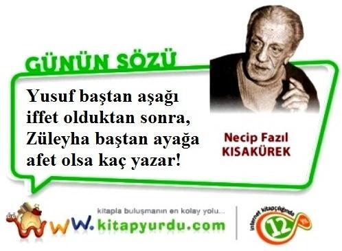 20. yüzyıl Türk edebiyatının ölümsüz isimlerinden, 'Üstad' lakaplı büyük şair ve yazar Necip Fazıl Kısakürek'ten...
