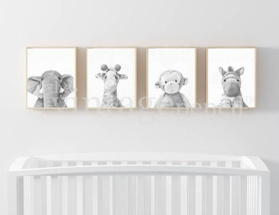 Nursery Prints Nursery Wall Art Set of Four | Etsy  – Baby