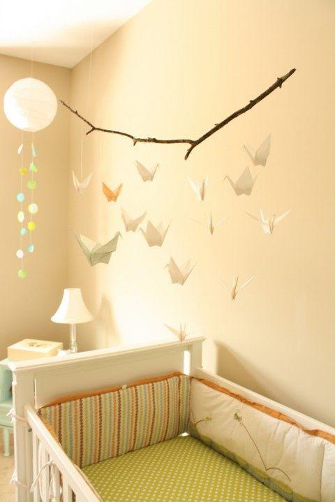 http://fashionpin1.blogspot.com - love this idea - maybe hang lightly stuffed fabric birdies instead?