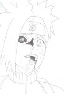 how to draw naruto and sasuke fighting step by step