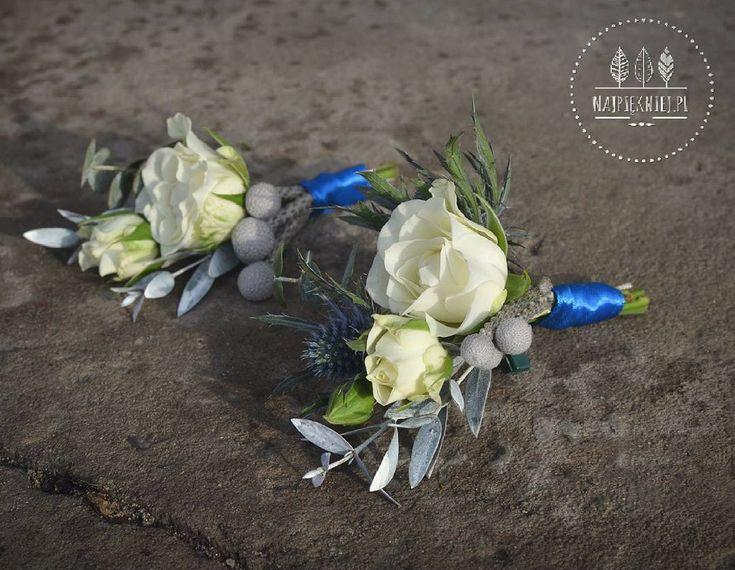 Męskie rzeczy, przypinki pana młodego i świadka.  #wedding  #wesele #slub #dekoracje #winter #zima #blue #ecru #white #rose #eucalyptus #green #grey  #love #nature #inspiration #january #decoration #withlove  #flowers  #kwiaty #instagood #beauty #photoftheday #followme #ilovemywork