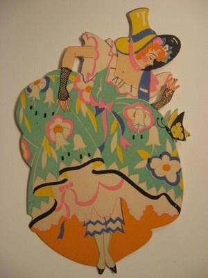 Vintage Bridge Tally Card Southern Belle Lady Butterfly | eBay