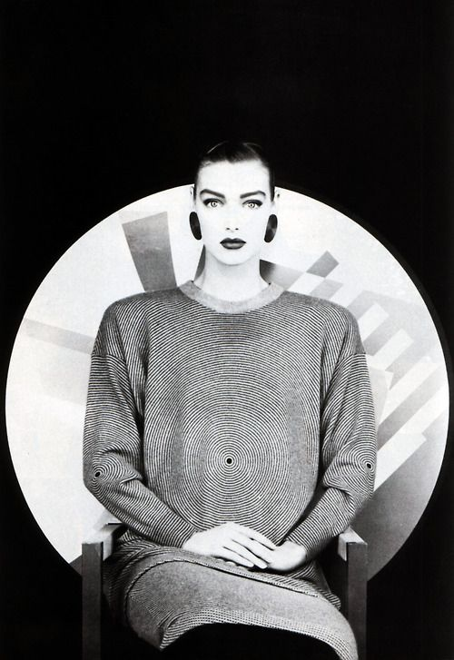 Krizia, American Vogue, October 1987. Photograph by Giovanni Gastel.