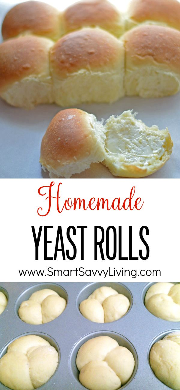 Homemade Yeast Rolls Recipe| I make this homemade yeast rolls recipe every Thanksgiving, Christmas, and Easter dinner, and many other times throughout the year just because. The instructions may seem overwhelming at first due to their length, but they are written with the beginning baker in mind. These rolls have never failed for me and several commenters on the blog agree!