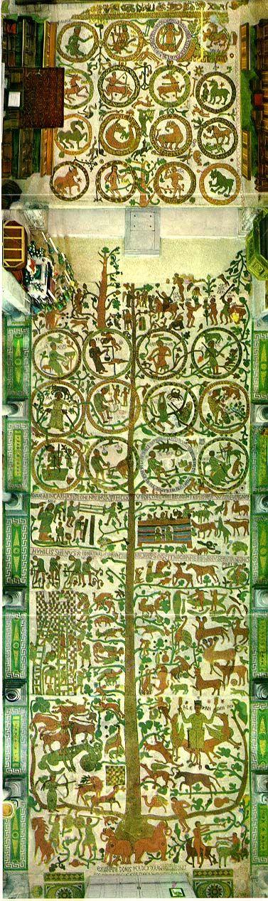Albero della Vita (mosaico pavimentale della Cattedrale di Otranto), 1163-1165, di Presbitero Pantaleone