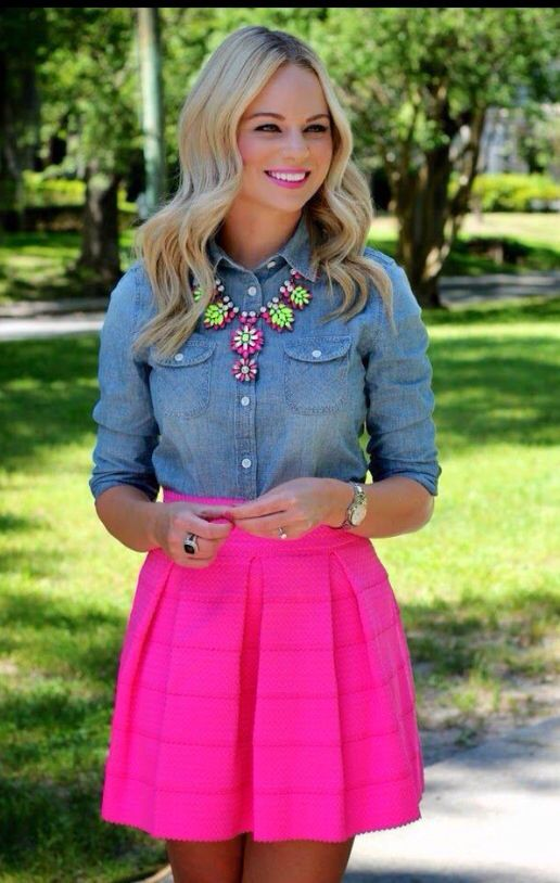 Falda rosada