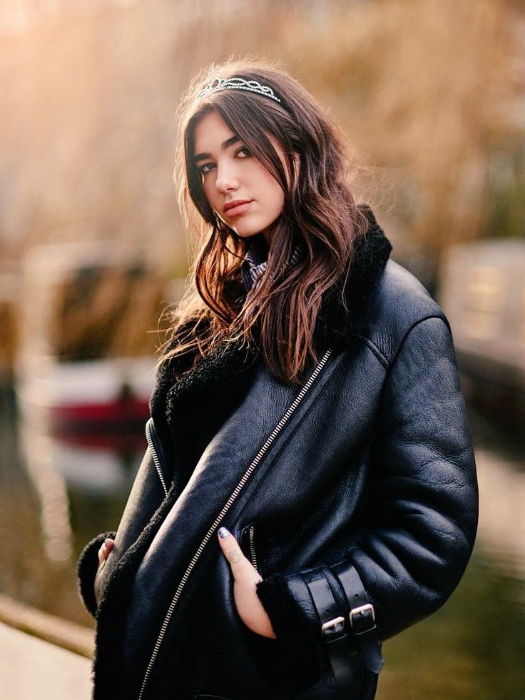 Dua Lipa leather coat | Dua, Lipa, Singer