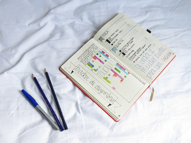 bujo, bullet journal, ideias de como montar, inspiração, planejamento, organização pessoal, cadernos.