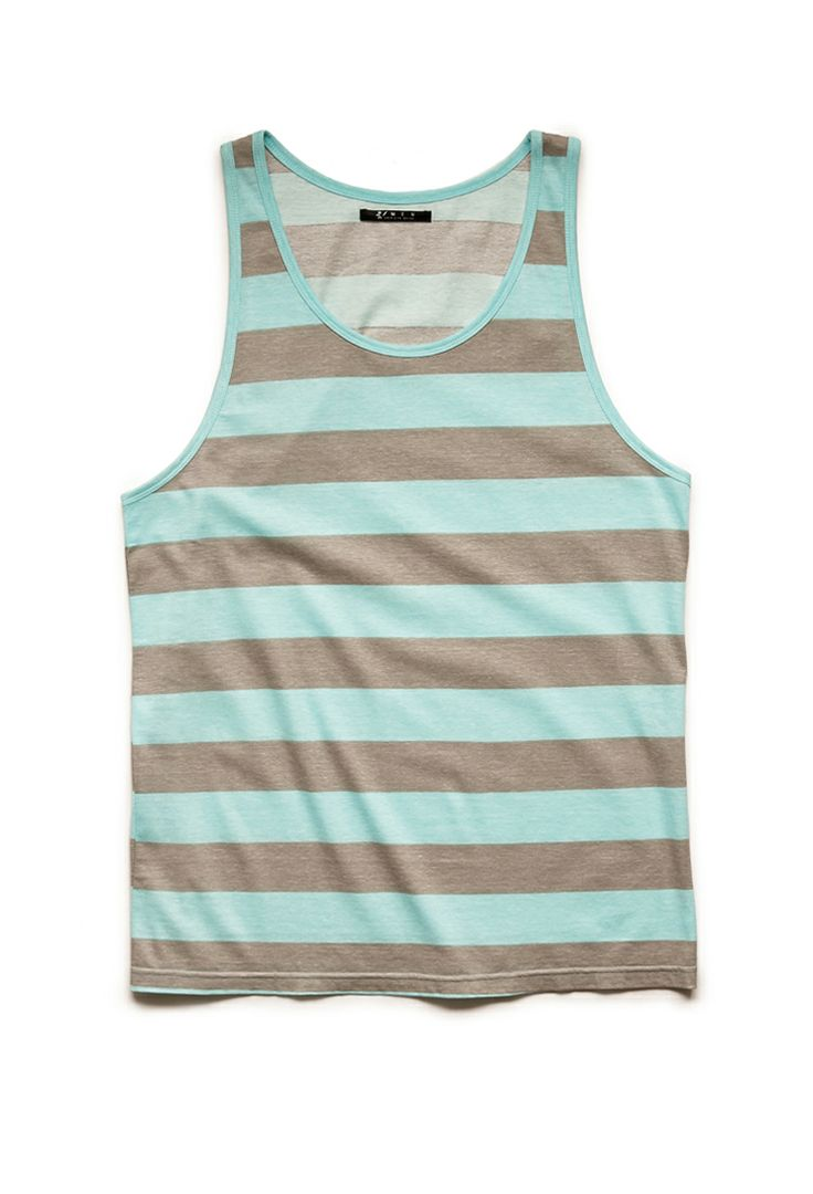 Rugby Striped Tank Top | 21 MEN #21Men
