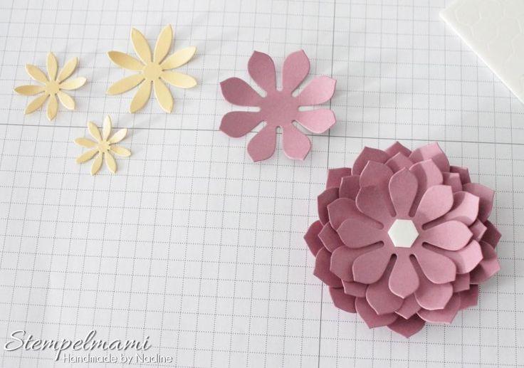 Stampin' Up! Anleitung Tutorial Sukkulenten Blume anfertigen