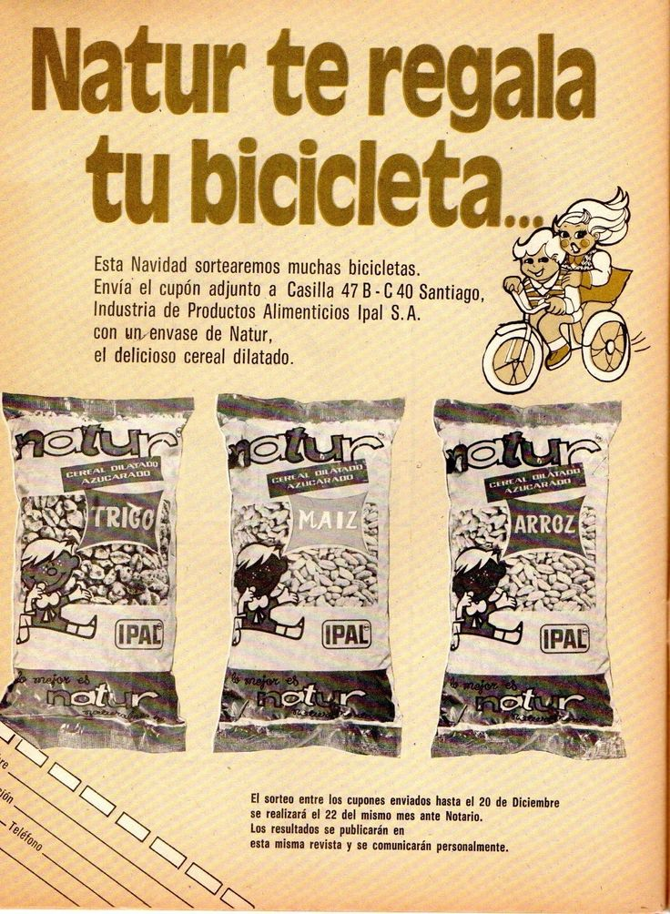Natur de Ipal. Publicidad en revista Mampato N°249 de 30 de Octubre 1974.