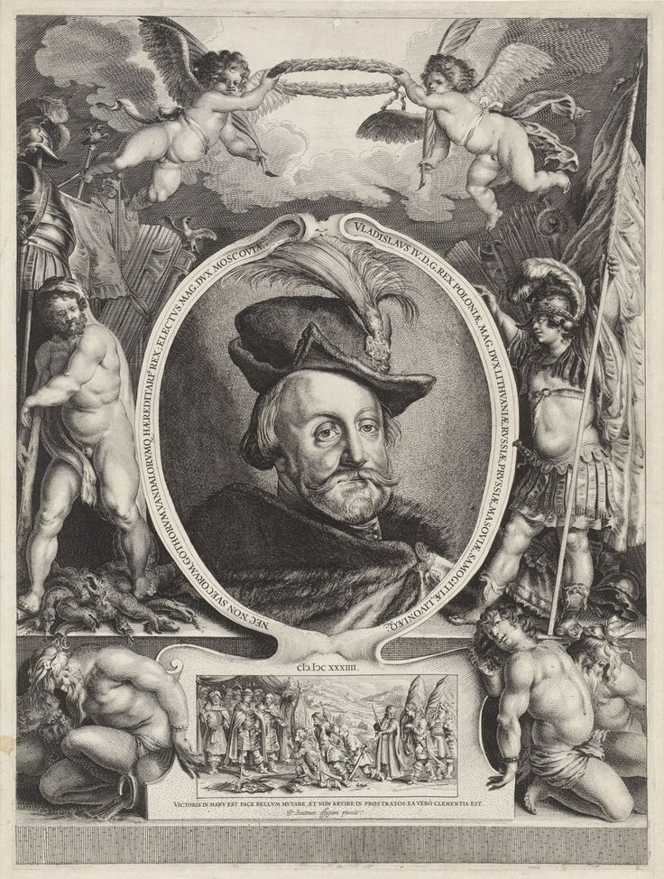 Władysław Waza jako zwycięski wódz spod Smoleńska. Autor: Salomon Savery.