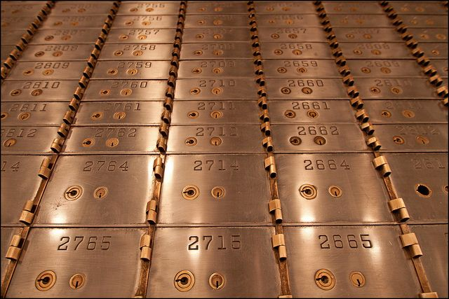 Safe Deposit Boxes in the Old Bank Vault by jpmckenna - Loitering Around North Vancouver, via Flickr