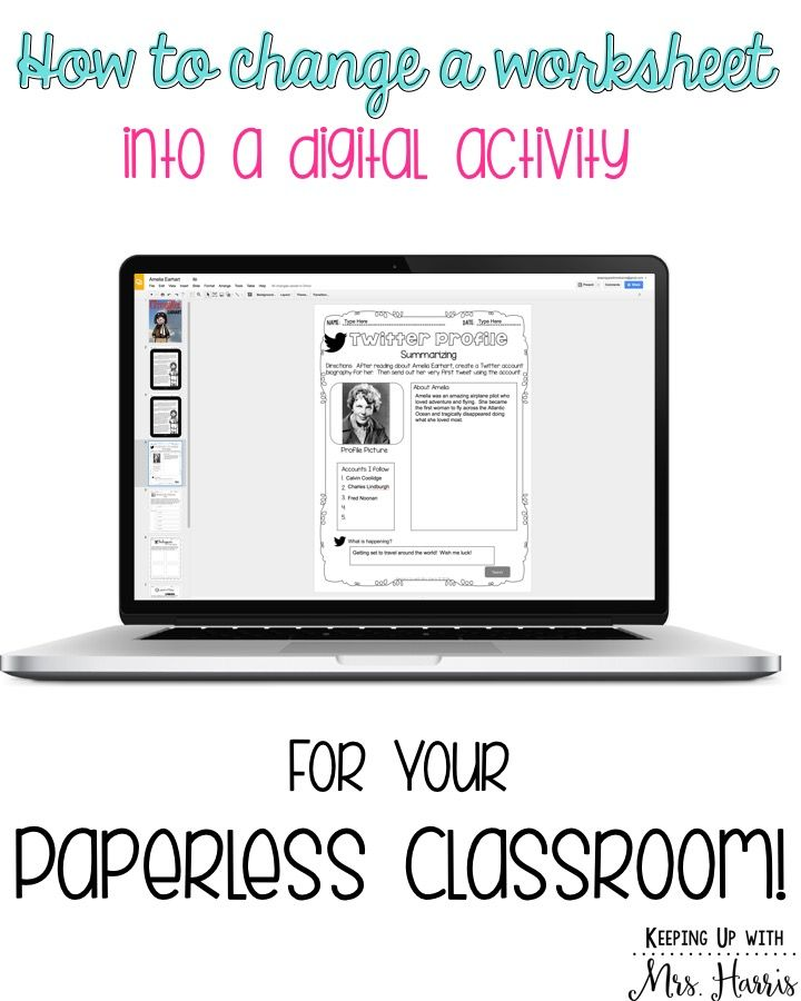 Learn how to change your worksheets into digital activities for your students…