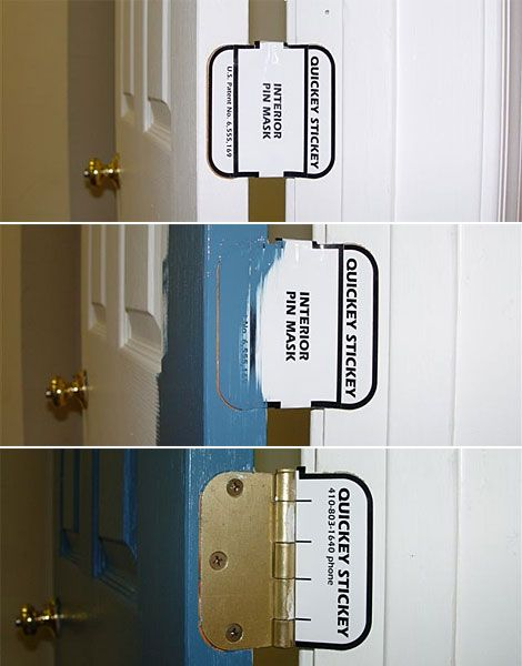 Quickey Stickey Door Hinge Masks come in two sizes  3 1 2. 55 best Painting Tools images on Pinterest   Painting tools  Door