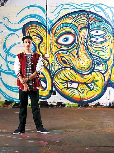 Adelaide artist Jake Bresanello is one young artists to watch! His work is awesome...(Photo: Andre Castellucci)