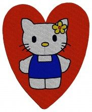 In The Heart Kitty embroidery design - Machine Embroidery Designs