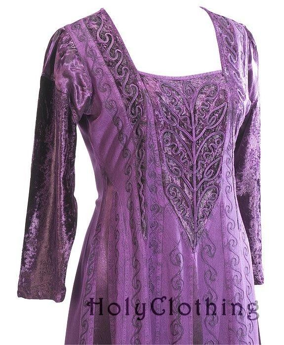 Morgana Medieval Velvet Satin & Lace Tudor Princess Dress Gown