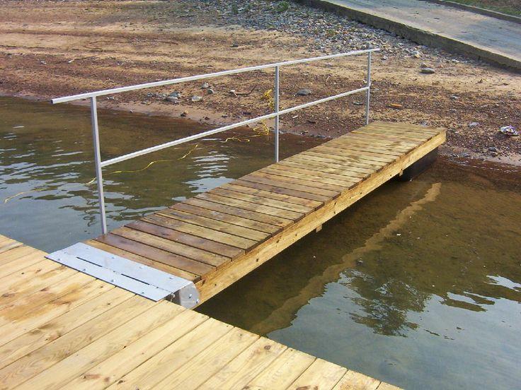 Diy boat dock ramp kit floating or fixed backyard