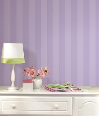 Disney Mickey Mouse Wallpaper, Borders - Light and Dark Purple Stripes Wallpaper for Nursery, Kids Room or Playroom - Mickey Mouse