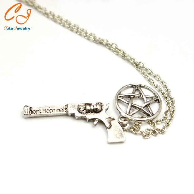 Supernatural dean pistol pentagram necklace factory direct sale